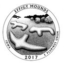 5 Unzen USA Iowa America the beautiful Effigy Mounds...