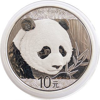 30 Gramm China Panda 2018 gekapselt