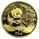 1/4 Unze Gold China Panda 1994 Polierte Platte