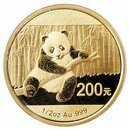 1/2 Unze Gold China Panda 2014 in Original-Folie