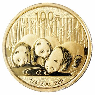 1/4 Unze Gold China Panda 2013 in Original-Folie