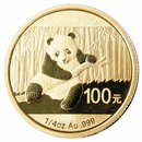 1/4 Unze Gold China Panda 2014 in Original-Folie