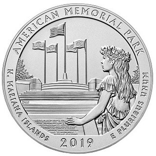 5 Unzen USA Northern Mariana Islands America the beautiful American Memorial Park 2019