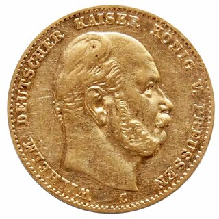 10 Mark Gold Preussen Wilhelm I