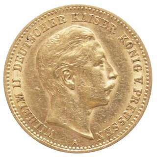 10 Mark Gold Preussen Wilhelm II