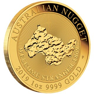 1 Unze Gold Australien Nugget Welcome Stranger 2019