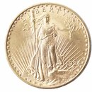 20 Dollar Gold Double Eagle USA St. Gaudens div Erhaltung ss