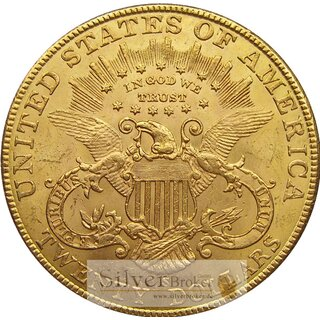 20 Dollar Gold Double Eagle USA Liberty Head Eagle div Erhaltung ss