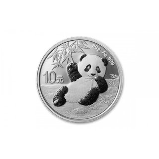 30 Gramm China Panda 2020 gekapselt