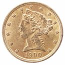5 Dollar Gold Half Eagle USA Liberty Head div