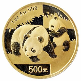 1 Unze Gold China Panda 2008 in Original-Folie