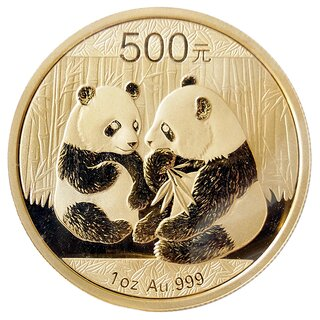 1 Unze Gold China Panda 2009 in Original-Folie