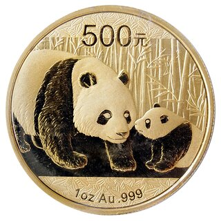 1 Unze Gold China Panda 2011 in Original-Folie