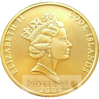 1 Unze Gold Cook Islands 2009